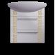 Тумба с умывальником «Греция» подвесная, золото