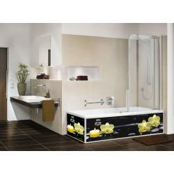 Экран под ванну черная орхидея