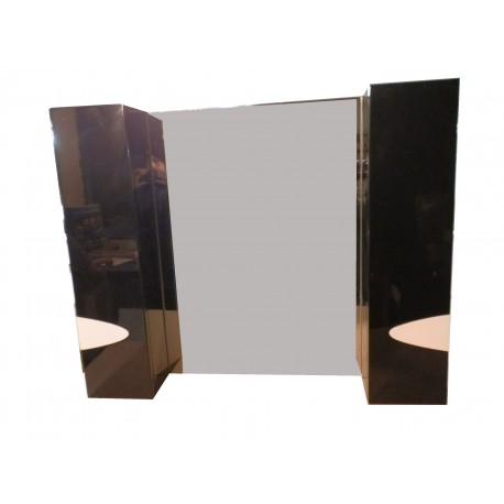 Зеркало Maranela black&white 2 шкафчика