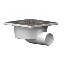 Трап горизонтальный PTGS 50/150 с решеткой из пластика