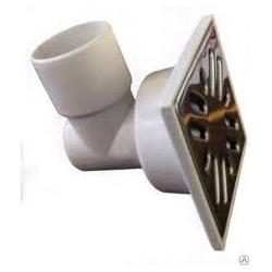 Трап горизонтальный PTG 50/100 с решеткой из пластика