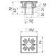 Трап вертикальный А 100 (50/100) с декоративной нерж. решеткой