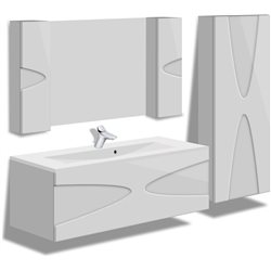 """Комплект в ванную """"Maranella"""" 80 см +умывальник иск.камень"""