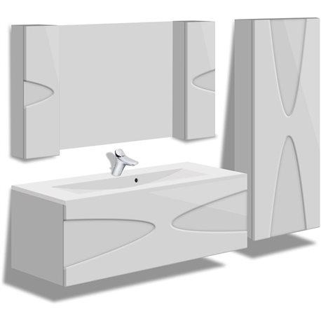 """Комплект в ванную """"Maranella"""" 80-120 см +умывальник иск.камень"""