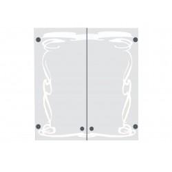Пластиковый шкаф с зеркалом Eco green Изысканность
