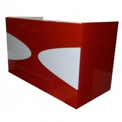 Тумба для ванной «Maranella» (подвесная) красно-белая