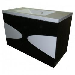 Тумба для ванной «Maranella» (подвесная) чёрная