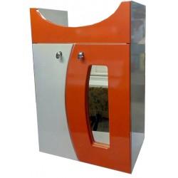 Тумба для ванной «Витрина» оранже