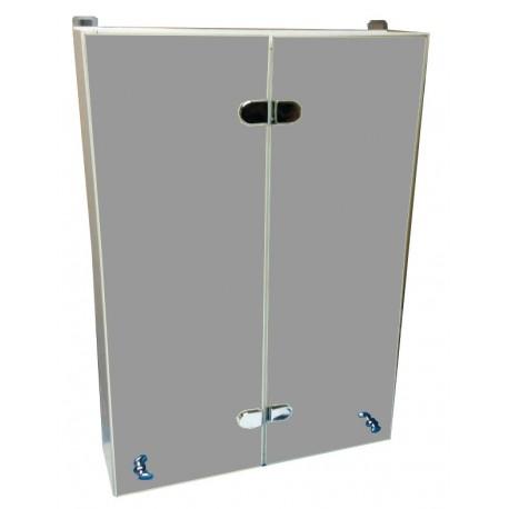 """Пластиковый шкаф с зеркалом """"Eco green"""" с обратным открытием дверей"""
