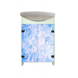 ТУМБА Eco Green light Blue marble с умывальником CERSANIT Cersania
