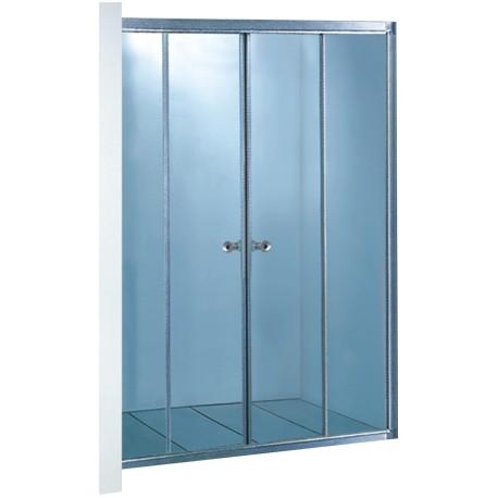 Штора-кабина на ванную (матовое стекло, профиль сатин)