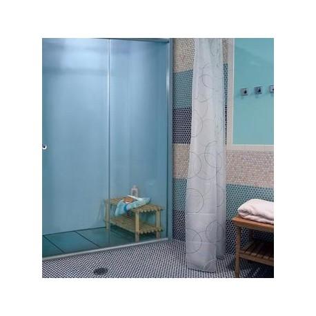 Штора-кабина на ванную двухсекционная (матовое стекло, профиль сатин)