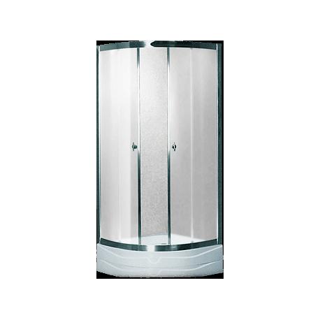 Душевая кабина (мелкий поддон,профиль сатин, стекло матовое) 80х80х200
