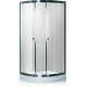 Душевая кабина (мелкий поддон,профиль сатин, стекло матовое) 90х90х200