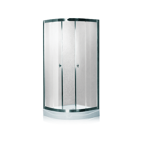 Душевая кабина (мелкий поддон,профиль сатин, стекло матовое) 100х100х200