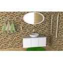 Комплект мебели «Аква» 80-120 см +умывальник иск.камень