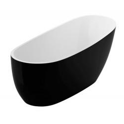 Ванна Excellent окремостояча 1750х740 Comfort чорно-біла