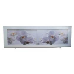 Экран под ванну I-screen premium Белые орхидеи