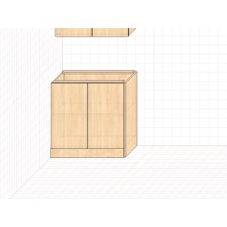 Тумба напольная пластиковая 2.0 кухонная секция