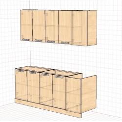 Комплект пластиковый 2.0 кухонный блок