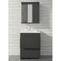 Комплект мебели Антрацит 60 см 2 ящ с умывальником КОМО
