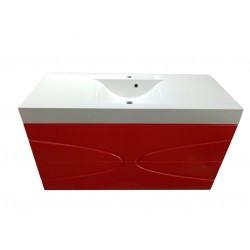 Тумба для ванной «Maranella» красная 120 см RAL 3024