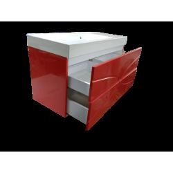 Тумба для ванной «Maranella» красная RAL 3024