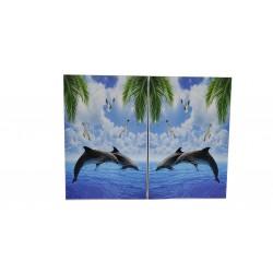 Пластиковый шкаф Mikola-M Dolphins