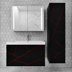 Комплект подвесной мебели Chaos 2021 grey&red 2 ящ,