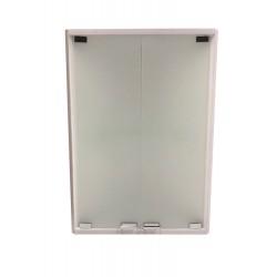 Шкаф угловой пластиковый подвесной 350х700 мм