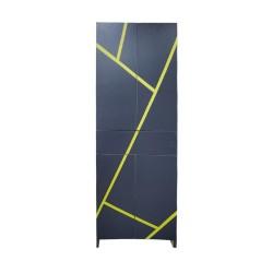 Пенал пластиковый напольный Антрацит grey&yellow
