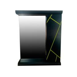 Зеркало с полками Plastic 2.1 Антрацит grey yellow