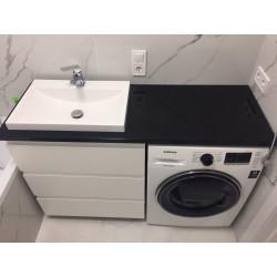 Тумба под стиральную машинку с умывальником black&white