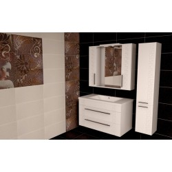Комплект в ванную «Греция» 80-120 см +умывальник иск.камень