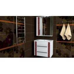 Комплект в ванную «Вышиванка» 80-120 см +умывальник иск.камень