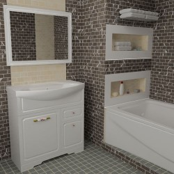 Комплект в ванную Classik-2 80-120 см +умывальник иск.камень