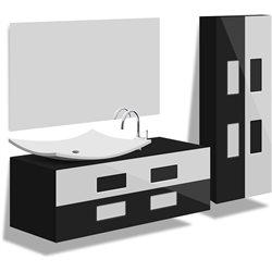 """Комплект в ванную """"TOKIO"""" 80-120 см +умывальник иск.камень"""